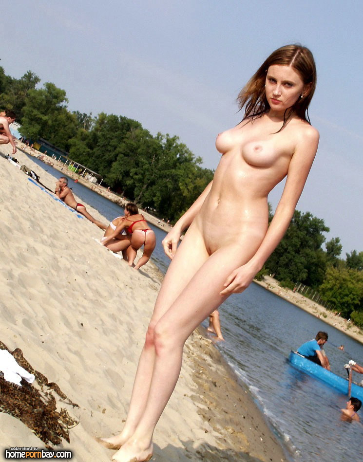 Babe self beach nude
