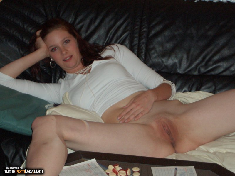 spread dick Homemade amateur leg