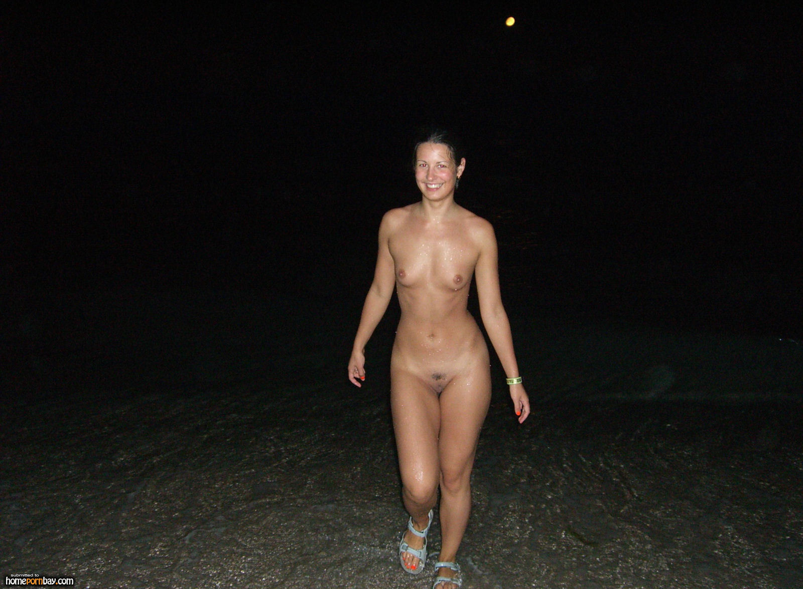 Dipping nude nudist skinny