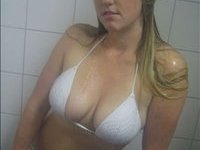 Wet Big Busted Blonde