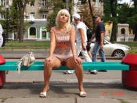 Russian amateur MILF outdoor