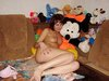 babe and her stuffed toys
