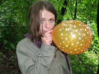 Cute babe and her balloon