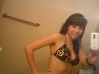 Amateur teen making hot self pics
