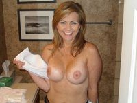 Cute amateur wife posing topless