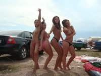 Very hot amateur girl and her friends