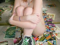 Very young amateur teen in her her room