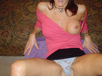 Busty amateur MILF crazy from sex