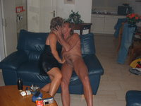 Mature couple fucking at home