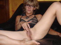 Mature amateur wife in glasses