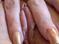 Hot amateur babe playing with dildo