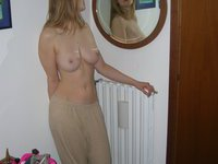 Amateur wife in glasses