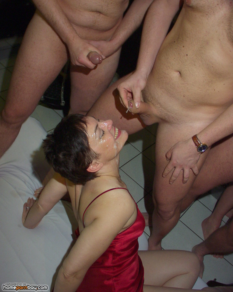 Great Swingers naked bukkake very