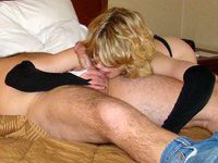 Sex with naughty blonde wife