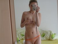 Blonde amateur wife self pics