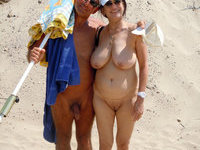 nudist beach Mom