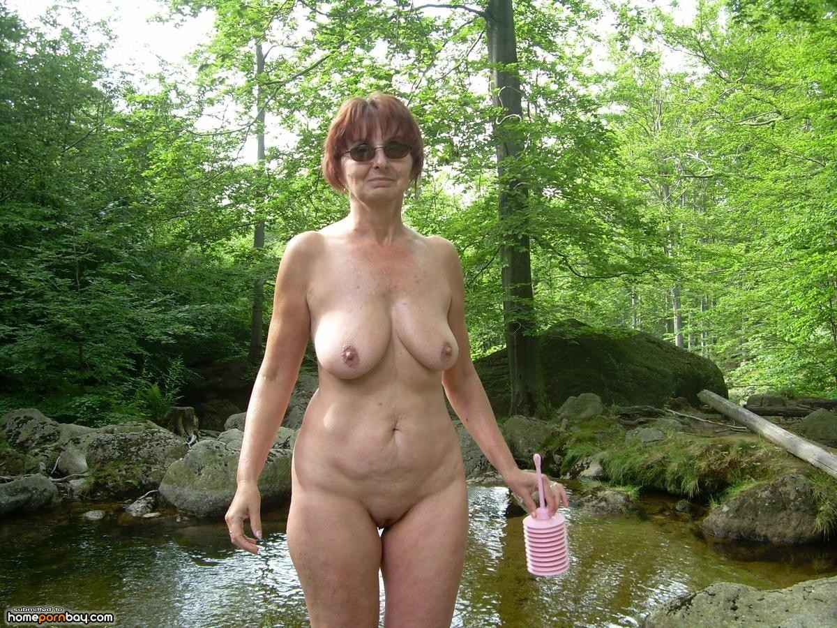 granny posing nude outdoors - mobile homemade porn sharing