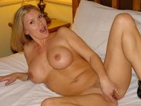 Sex with busty blonde MILF