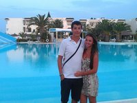 Amateur couple at vacation