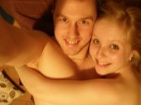 Amateur couple at bedroom