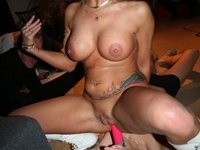 Hot stripper at party