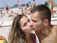Young amateur couple at vacation