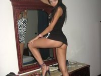 Russian amateur brunette wife