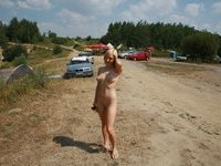 sweet blonde teen GF sunbathing naked