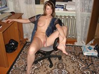 Real amateur wife posing at home