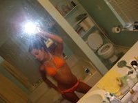 Petite teen GF takes hot selfie