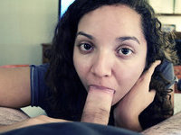 Amateur latina sucks cock