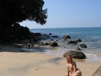 Danish babe naked on the beach