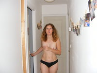 Curly amateur wife
