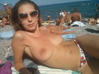 Amateur wife at vacation