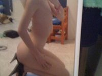 Beautiful amateur teen girl selfie