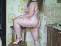 Chubby russian amateur wife