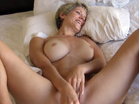 Mature amateur blonde wife toying her pussy