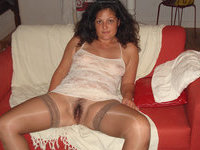 Slutty amateur wife with hairy pussy