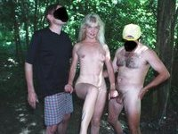 outdoor flashing Coco the blonde mature slut