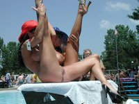 Nude amateur show outdoors
