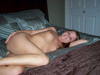 Naked and smiling at home