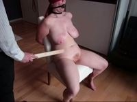 Tied up BBW slave on the chair