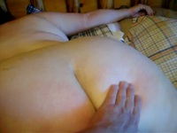 Spanking that tight white ass with pleasure