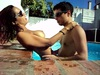 Hot young mexican couple make sex fun in swimming pool and share in web