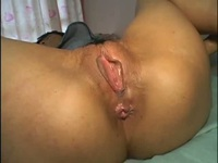 Japanese babe lets her man film her snatch