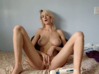 Sensual blonde and her wandering fingers