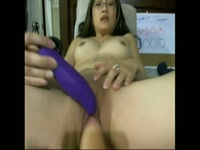 Asian slut banged by a machine and uses another toy