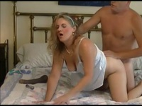 Mature couple having a bedtime sex