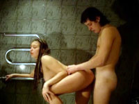 I bang wet beauty in bath
