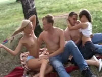 Great orgy in the forest